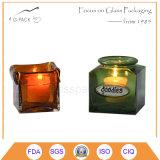 Lanterna della candela fatta in materiale di vetro con differenti colori