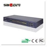 100/1000Mbps a ligação 2GX+24FE move o interruptor do Ethernet
