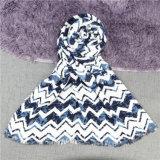 Caxemira das mulheres como o xaile desproporcionado acrílico do lenço da cópia da onda de Chevron