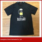 형식 남녀 공통 t-셔츠 공장 제조자 (R165)를 인쇄하는 광저우 OEM 관례
