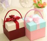 Rectángulo de regalo cuadrado portable encantador con el Bowknot para la aplicación de la boda y del cumpleaños, rectángulo de regalo del caramelo, rectángulo de Apple