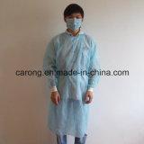 Vestido no tejido quirúrgico disponible del aislamiento con el pun¢o hecho punto
