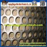 Strato perforato dell'acciaio inossidabile, foro di perforazione, metallo perforato