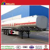 Acoplado del petrolero del combustible de la capacidad de Cbm del acero inoxidable 50 semi