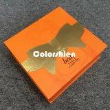 Rectángulo de regalo plegable amarillo de papel clásico del embalaje de Cosmtic con