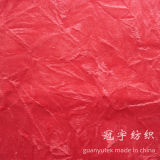 La pile courte chiffonnent le tissu de polyester de velours
