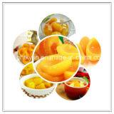 Отсутствие персика законсервированного Addititives желтого в сиропе