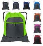 Venda por atacado não tecida relativa à promoção amigável colorida personalizada do saco de Drawstring de Eco