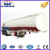 3 반 축선 50cbm 탄소 강철 연화성 액체 화물 4 사일로를 가진 실용적인 유조 트럭 트레일러