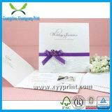 Cartão romântico luxuoso feito sob encomenda customizável do convite do casamento
