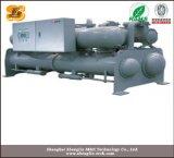 Refrigeratore raffreddato ad acqua semiermetico della vite con il regolatore del PLC