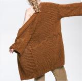 Cardigan lavorato a maglia lungo anteriore aperto della cascata da 2017 inverni per le donne