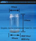 음식 저장을%s 투명한 유리병 유리 그릇