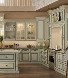 Kundenspezifische weiße feste Holz-frei einfache Küche-Möbel