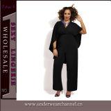 Vendita calda più il vestito lungo L-3XL (TMK537) da promenade dei manicotti del partito delle donne di formato