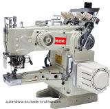 Zuker alimenta para arriba a brazo la máquina de coser del hilo de rosca del dispositivo de seguridad automático del corte la impulsión directa (ZK-1500D-UT)