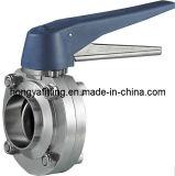 Válvula de borboleta sanitária de Welding/Clamped/Threaded