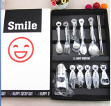 A colher da forquilha da tabela da face do sorriso ajustou o PC 6 por o aço inoxidável 304/201 do jogo