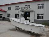 Casca chinesa da fibra de vidro do fornecedor de Liya 19FT que pesca o barco macio rígido