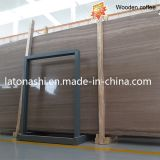 Wooden amarelo Vein Marble Slab para Floor, Wall, Vanity, Table