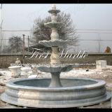 Fuente de piedra de mármol Mf-277 de Metrix Carrara del granito de la talla y de la escultura