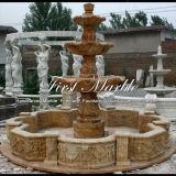 Fontana dorata Mf-1022 del calcio della fontana della pietra della fontana della fontana di marmo del granito