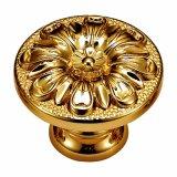Maniglia d'ottone forgiata di tiro placcata oro di alta qualità