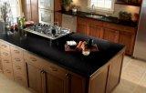 Quartz en pierre artificiel du noir 20mm d'étincelle pour des dessus de cuisine