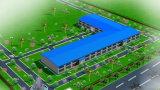 가벼운 Prefabricated 그려진 강철 구조물 작업장 (KXD-SSW213)