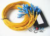 SmデュプレックスLCのコネクターの光ファイバパッチ・コード