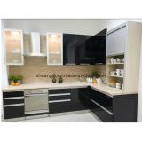 Modules de cuisine en bois de porte de cuisine de laque