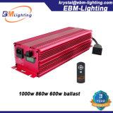 Lastre de la lámpara 860W 600W 240V Dimmable de CMH/Mh/HPS para el hidrocultivo