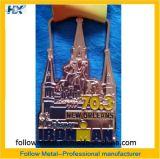 カスタマイズされた記念品メダル、ニュー・オーリンズの鉄の人、金はめっきした