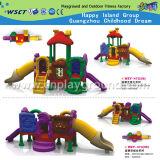 Equipamento plástico pequeno do jogo da corrediça do campo de jogos das crianças (HD-W-483-9)