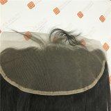 Chiusura frontale del merletto con le estensioni brasiliane dei capelli del Virgin dei capelli di Remy di estensioni dei capelli