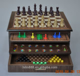 Combination Chess Games with Paper Veener on Top Ll-A001