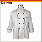 в Stock Mans White Long Sleeve Chef Jacket для Sale