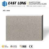Brames blanches/grises/beiges pures bon marché de pierre de quartz pour le panneau de dessus de vanité/de carrelage/mur avec le matériau de construction/surface solide