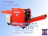 machine de découpage de rebut de tissu de cuir de tissu du couteau 300-800kg/H témoin droit électrique semi