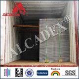 Gebürstetes Ende-zusammengesetztes Plastikzusammensetzung ACP-Aluminiumblatt
