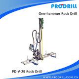 Foret de roche mobile pneumatique pour le perçage vertical et horizontal
