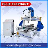 手製のThermwoodベトナムインドドバイ3D小型CNCの木製の切り分ける彫版機械中国製