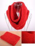 Женщины шарфа 60*32cm Knit Neckerchief греют пряжи гетры шеи типа зимы шарф и шаль твердой мягкой шерстяной цветастый