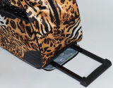Sacchetto 2017 del carrello di stampa del leopardo con qualità del testo fisso del PVC buona