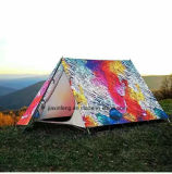 Gedruckt angepasst, bewegliches im Freien reisendes wasserdichtes kampierendes Zelt wandernd