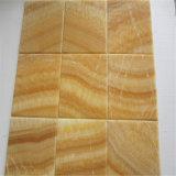 Azulejo de suelo del mármol de Onyx de la miel del amarillo de la ciudad de Foshan de la fábrica de la fuente de China, precio de mármol mejor