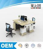 Estação de trabalho moderna da divisória da mesa de escritório para a pessoa 2