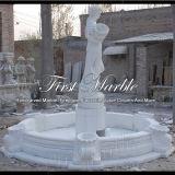 Fuente de piedra de mármol Mf-612 de Carrara del blanco de jardín del granito