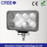 12V 5inch 5X7 45W Rectangle LED Truck Light, Phare LED