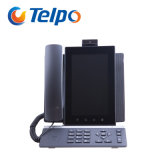 Telefone sem corda roxo do vídeo do IP do apoio de bateria de Telpo